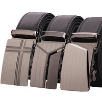 100 Genuine Leather Belts For Man Brand Customized Men S Automatic Buckle Belts Wholesale Can Print