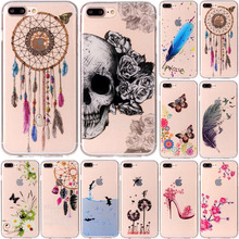 hot deal buy for iphone 7 plus 7plus case transparent anime animal silicone tpu skin soft back cover phone case for apple iphone 7 plus 5.5