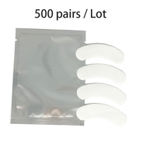 500 Pairs/Pack Under Eye Pads Lash Eyelash Extension Paper Patches New Paper Patches Eyelash Eye Tips Sticker Wraps Make Up Tool
