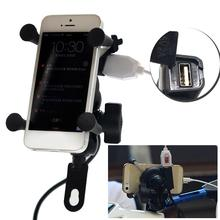 HOT SALE X Grip RAM Motorcycle Motorbike Mount Mobile Phone Holder Bracket USB Charger