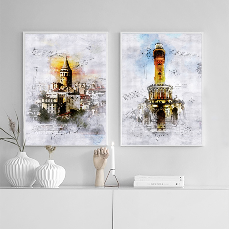 Izmir <font><b>Istanbul</b></font> City Art Oil Painting Wall Pictures Wall Decoration Home Decor 24x36inchs image