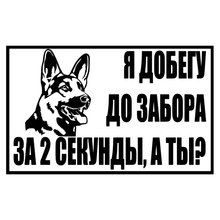 CS-1174#22*14cm I will reach the fence funny car sticker vinyl decal silver/black for auto stickers styling