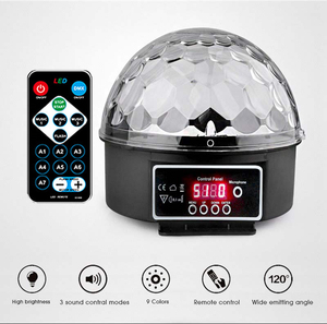 Image 5 - TRANSCTEGO 9 Colors 27W Crystal Magic Ball Led Stage Lamp 21 Mode Disco Laser Light Party Lights Sound Control DMX Lumiere Laser
