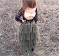 2017 New Girl Skirts Gauze Tiered Fluffy Skirts European Fashion Cake Skirts Children Clothes High-quality Goods Girl Clothing