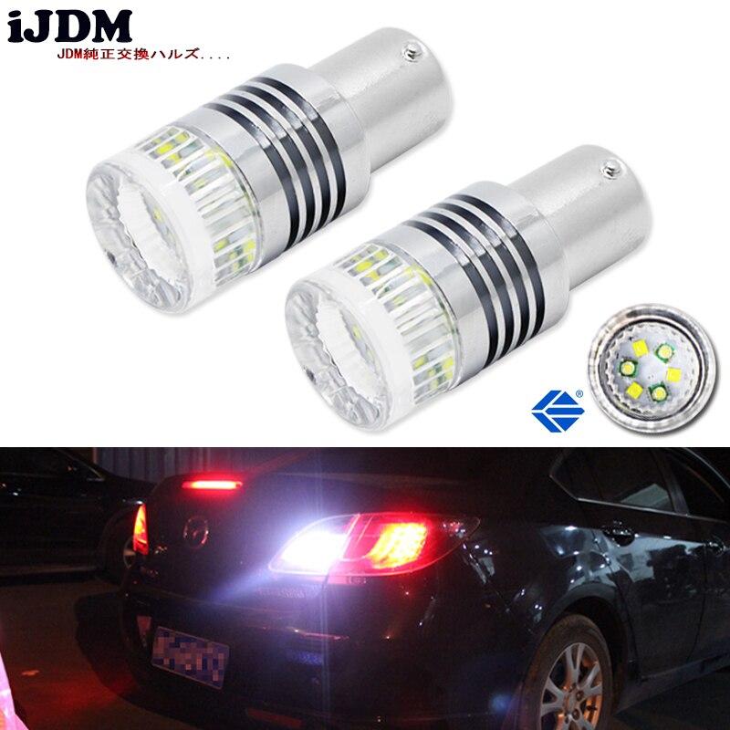 iJDM 1200 Люмен супер яркий P21W 1156 7506 P21W s25 обратные чипсетов BA15s из светодиодов лампы для тормоз, DRL фары, сигнал поворота, резервного копирования свет лампы