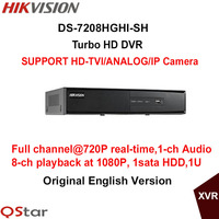 Hikvision Original Turbo HD DVR DS 7208HGHI SH SUPPORT HD TVI Analog IP Camera 8ch Full