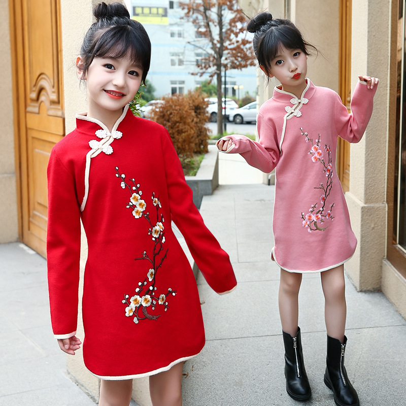 floral sweater dress teenage baby girl winter autumn spring dress with long sleeve 2018 children's knitted dress for girls readit knitted dress 2017 autumn winter side split with faux pearl beading long sleeve elegant slim dress vestidos d2745