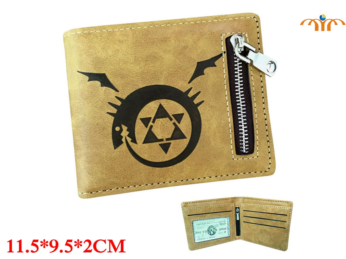 Fullmetal Alchemist Anime PU Leather Wallet Fashion Coin Pocket Card Holder Anime Peripheral Product