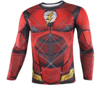 2017 Movie Justice League The Flash Barry Allen Cosplay T Shirts Superhero Mens Printed Pattern Polyester O Neck Tee Shirts Tops