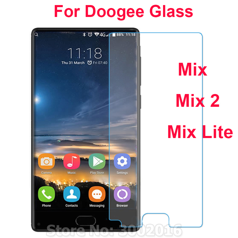 2PC Explosion-proof Guard Protective Glass For Doogee Mix Lite Screen Protector Tempered Glass For Doogee Mix / Mix 2 Front Film