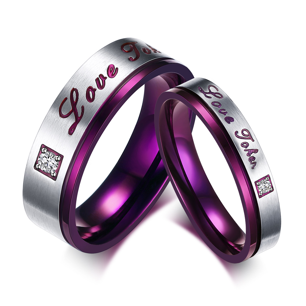 diamond wedding ring purple wedding rings Displaying 19 Images For Purple Flower Engagement Rings