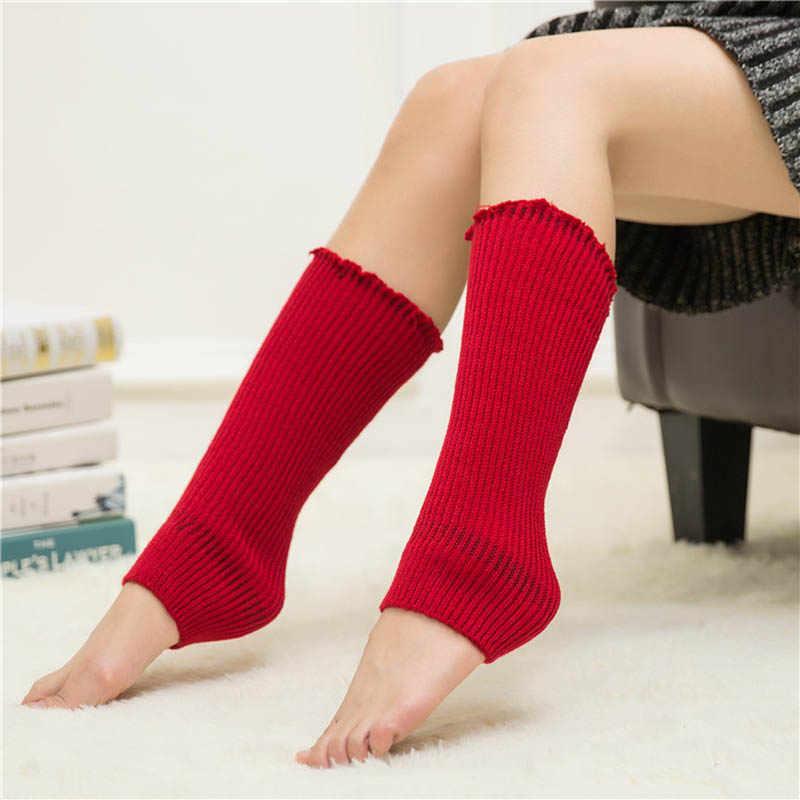 LNRRABC Çizme Legging Isıtıcıları Tığ Bayan Çorapları Sıcak Örme kızın Katı Rahat Gevşek Uzun Çorap Bacak Isıtıcıları Için kadın