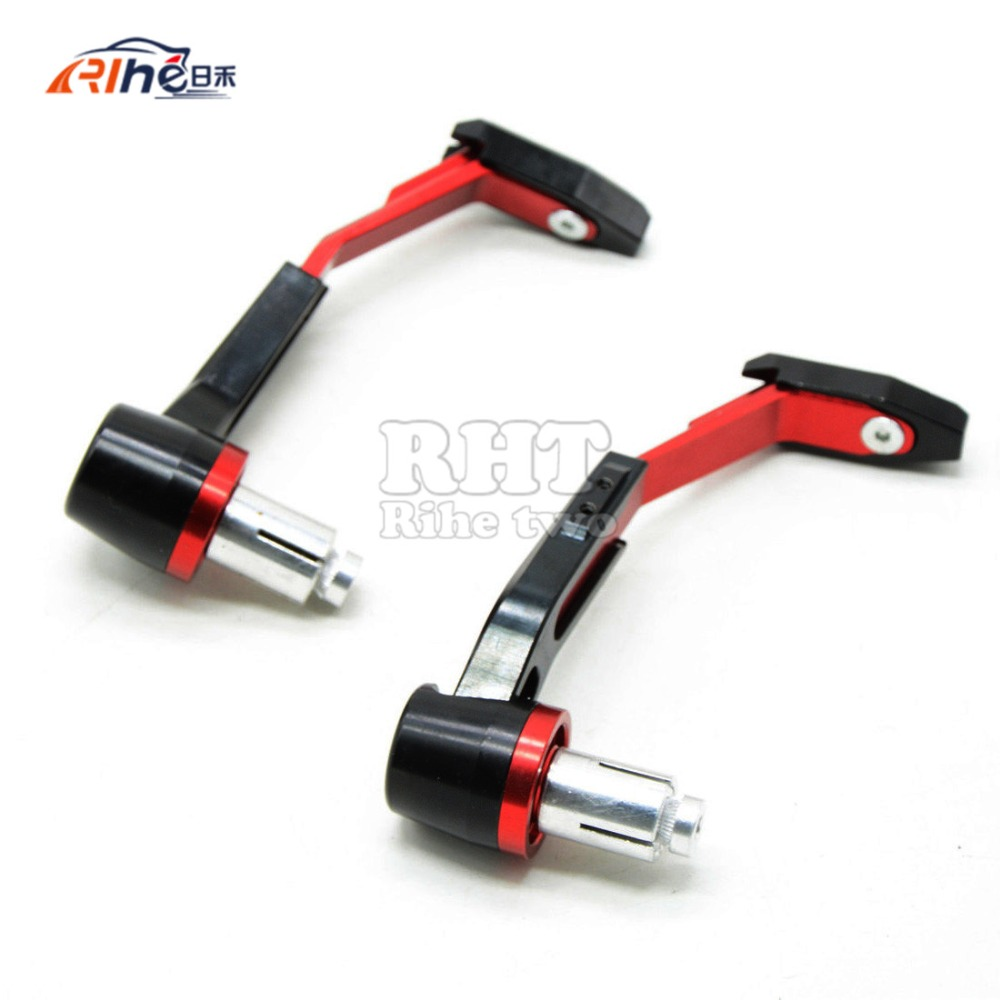 Red Motorcycle Universal CNC22mm Handlebar Protector Brake Clutch Protect For honda cb1300 cb400 CBR250R ducati 749 848 CBR250R universal 7 8 22mm cnc motorcycle handlebar protector guard proguard brake clutch levers protect for ducati monster 696 695 796