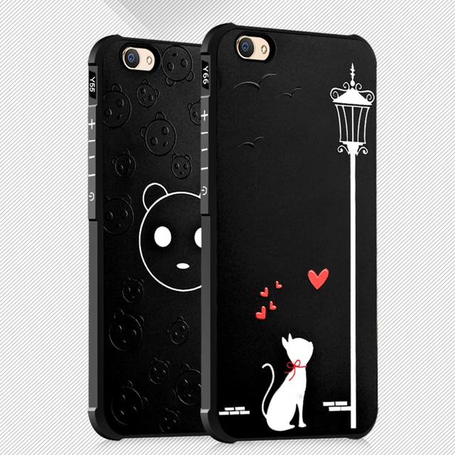 innovative design eb617 95b53 US $4.64 7% OFF for Vivo V5 Plus V5 Lite Case Cat Bear Skull Bear Batman  Pattern Soft Silicone Case Cover for Vivo V5 V5s Slim Case Coque Fundas-in  ...