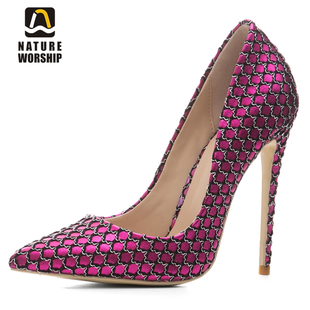 Plus size women shoes spring autumn new style shoes for woman slip on pumps high heels shllow shoes stiletto pumps party pumps new 2017 spring autumn plus size red wedding shoes for woman high heels pumps bowknot mid heel women sexy stiletto heel slip on