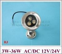 Clásico LLEVÓ la luz subacuática de la lámpara bajo el agua LLEVÓ luz de la piscina fuente de luz de alta potencia de 1 W LED 3 W-36 W AC/DC 12 V/24 V