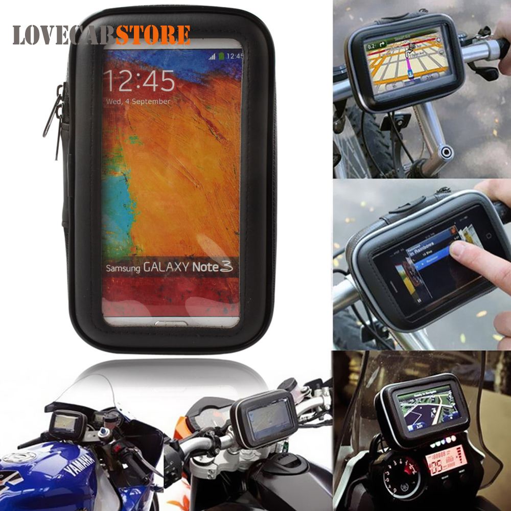 Waterproof Bicycle Motorcycle Carry Case Bag for 3.5 / 4.3 / 5 inches GPS Navigation Devices Protective Pouch Carrying CoverWaterproof Bicycle Motorcycle Carry Case Bag for 3.5 / 4.3 / 5 inches GPS Navigation Devices Protective Pouch Carrying Cover