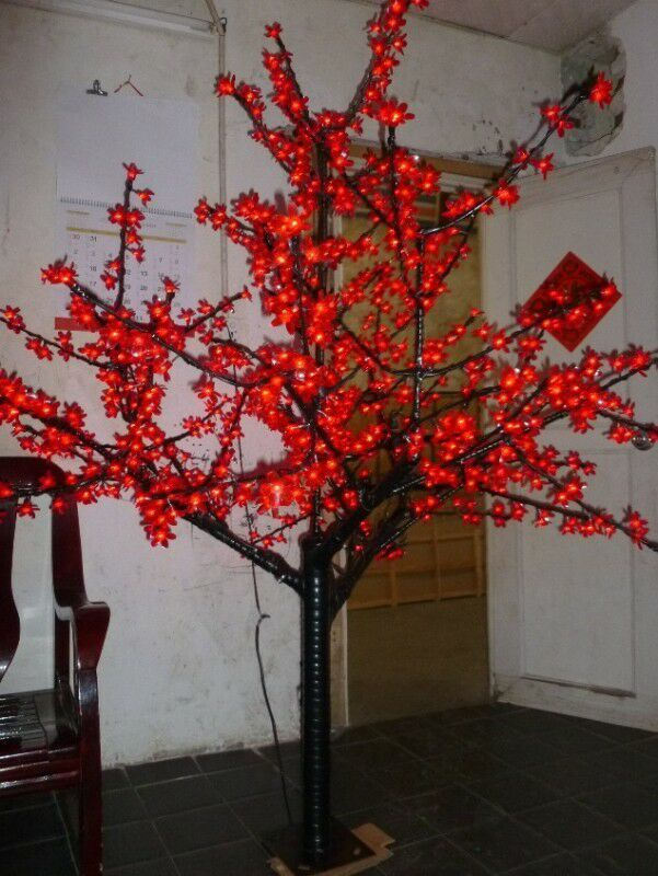 Christmas New Year Party Garden LED Cherry Blossom Tree 864 Pcs LED Bulbs 2m/6.5ft Height 110/220VAC Rainproof Outdoor Usage