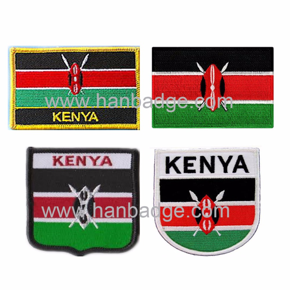 Custom Embroidered Patches Customized Embroidery Badge Emblem Kenya