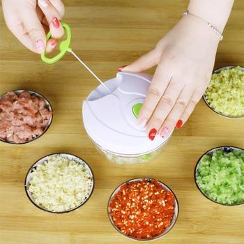 Đa chức năng Manual Rau Quả Chopper Tay Kéo Food Chopper Xử Lý Thực Phẩm Slicer Máy Xay Thịt Phụ Kiện Nhà Bếp