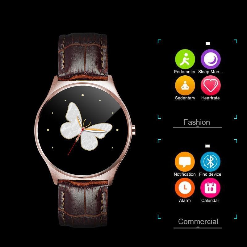 Men Sport Steel Bluetooth Wrist font b Smartwatch b font Heart Rate Monitor Remote Camera Clock