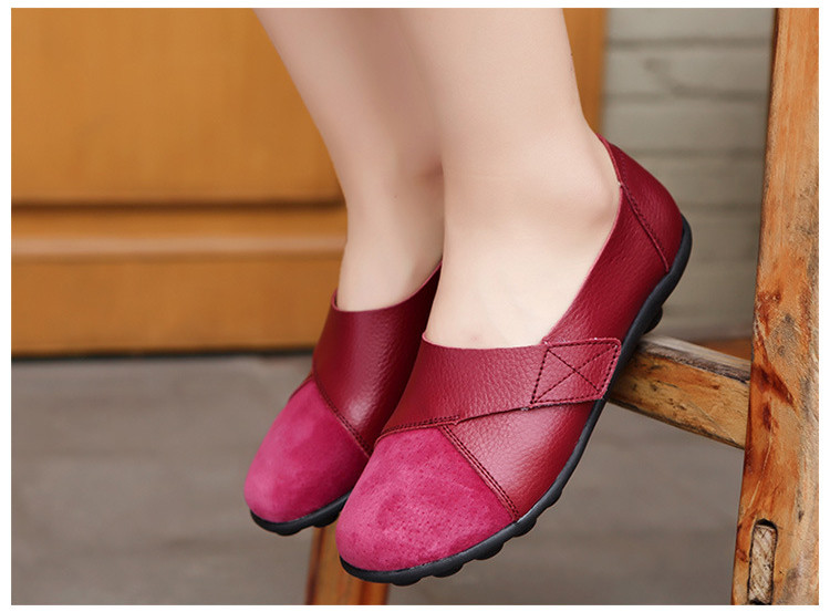 AH 1987-2019 Spring Autumn Women's Shoes Genuine Leather Woman Loafers-18