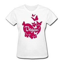 Vegan Heart with Butterflies women's t-shirt