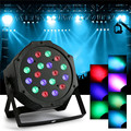 18W 7 Channel RGB Indoor LED Flat Par Light PAR Light for Stage Lighting KTV DJ Disco Party Stage Effect Rotating Lamp Bulb