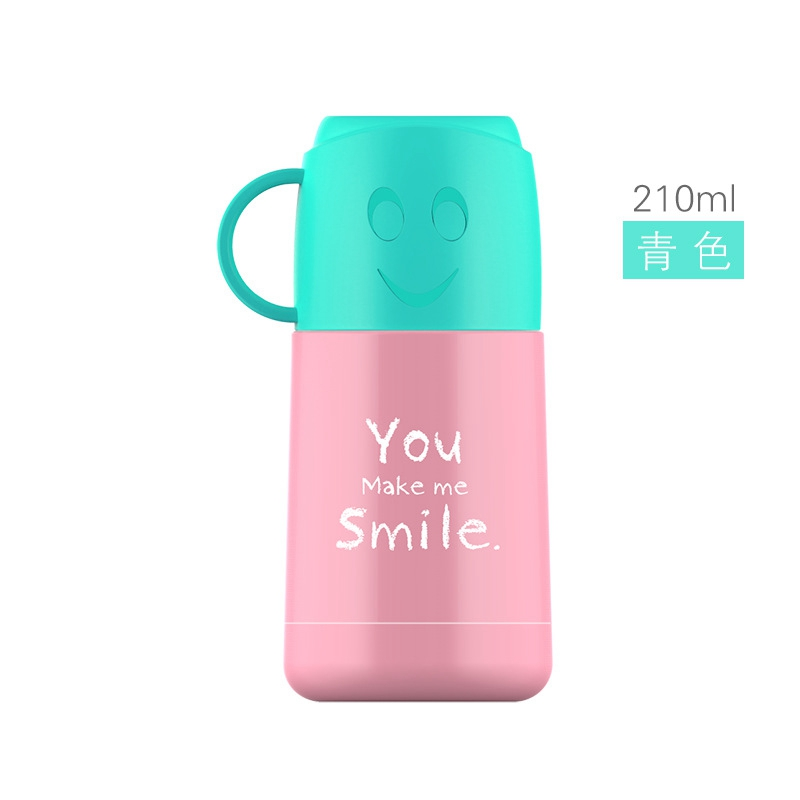 Urijk Watter Bottle Smiley Face Tea Coffee Thermos Insulation Cups Mugs Christmas Gift Stainless Steel Vacuum Flasks Travel