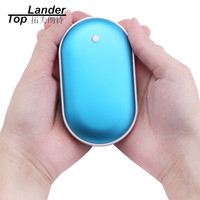 Portable Hand Warmer USB Rechargeable Battery Mini 5V Power Bank 5000MAH Handheld Winter Outdoor Heating Warmer