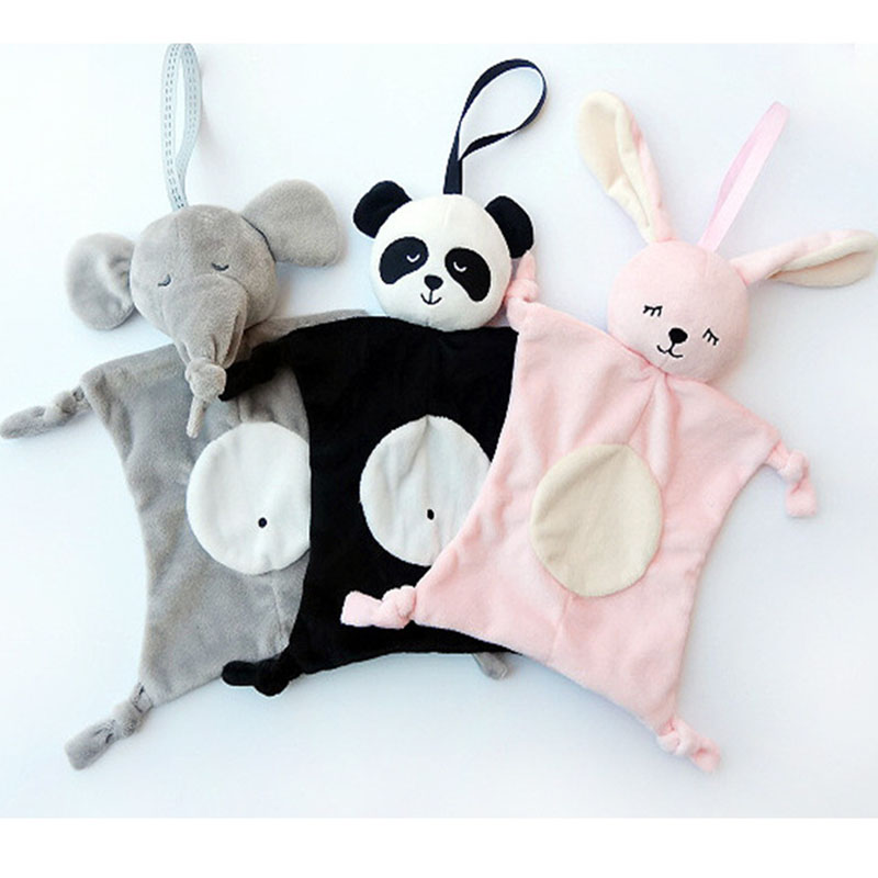 Baby Comfort Towel Plush Pet Animal Doll Towel Soft Soothe Multi Function Baby Saliva fortniter Baby Stuff Toy Rabbit Plush Toy in Stuffed Plush Animals from Toys Hobbies