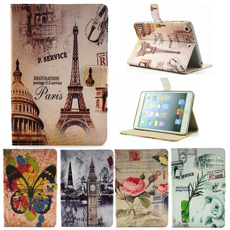 For Ipad 2 3 4 Paris Eiffel Tower Flower PU Leather Case For Apple iPad2 Ipad3 Ipad4 Case Stand Protector Skin Tablet Cover effects of ict facilities on teaching and learning