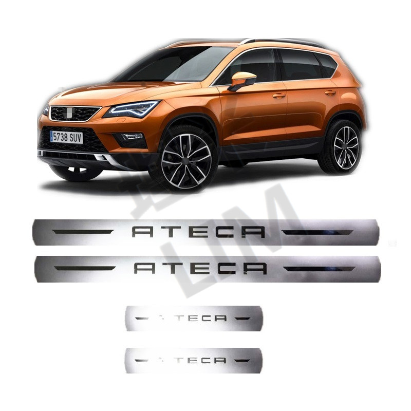 4 Pieces/Set Suitable for SEAT ATECA FR X-Perience Stainless Steel Scuff Plate Door Sill Cover Trim Car Styling Accessories