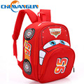 CHUWANGLIN  3D print cute car Children canvas backpack for student boys school backpacks for student casual laptop bags LY10315