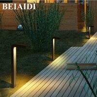 BEIAIDI 10W Outdoor Led Garden Porch Lawn Lamp Waterproof Stand Pole Column Landscape Light Corridor Path Fence Lighting Fixture