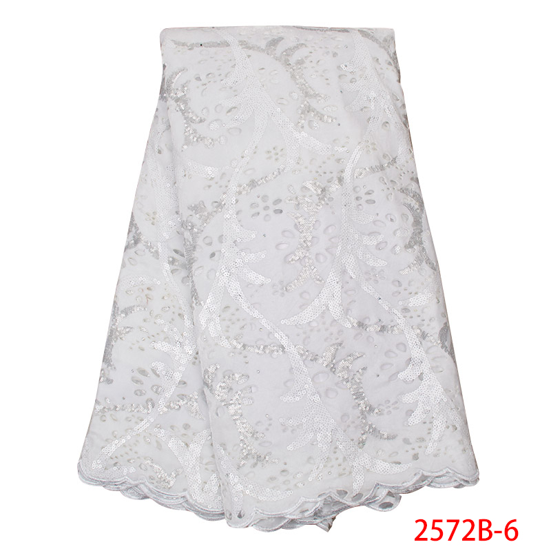 2019 High Quality Nigerian Wedding Laces Fabrics Hot Sale French Net Tulle Lace Fabric With Sequins KS2572B-6