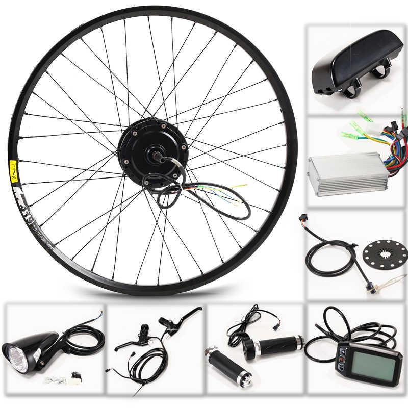 """Casdona kit para bicicleta elétrica, 36v, 350w, para rodas de 26 """", 27.5"""" e 29 """", bateria para chaleira ebike carro elétrico de led lcd bicicleta, bicicleta"""