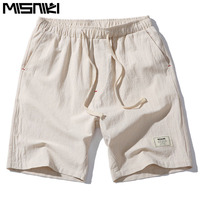 2017 Hot Fashion Men Short Pants Summer Linen Men Shorts Asian Size