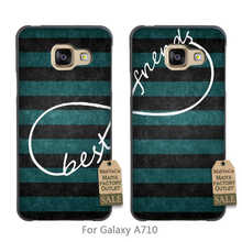 couple Hot Printed Cool phone Accessories For case GALAXY A710 Stripes Aztec Infinity Best Friends Matching Pair 1