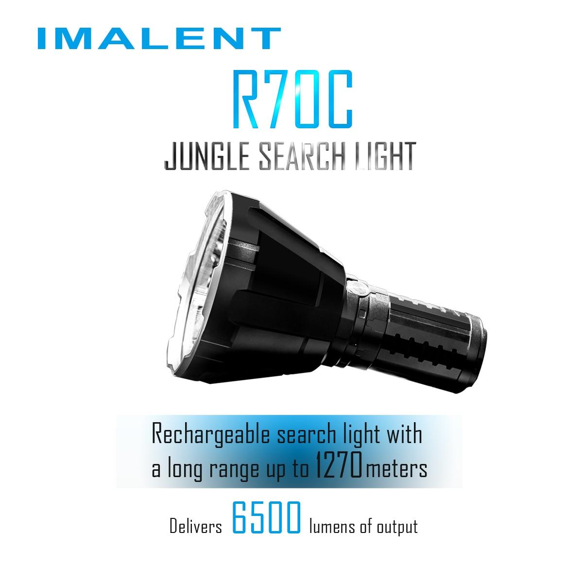 IMALENT R70C фонарики 6500 люмен Отдых на природе света светодио дный джунгли поиск Самообороны 18650 Перезаряжаемые высокое Мощность Водонепроница