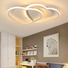 LICAN современные потолочные светильники светодио дный лампы для гостиной Спальня lamparas де techo в форме сердца Avize блеск 110 V 220 V потолочный светильник