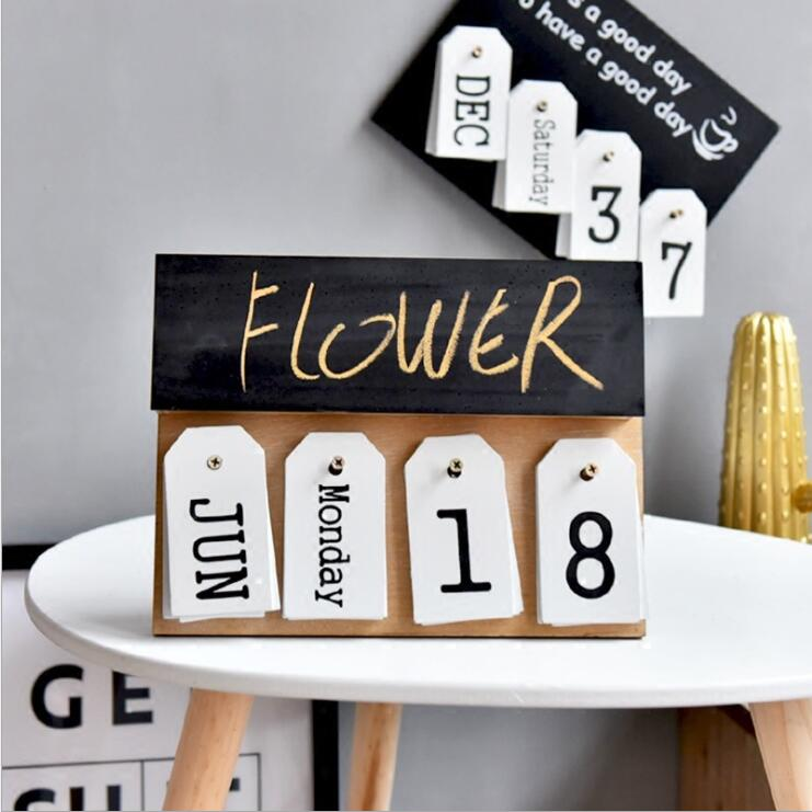 mesa de madeira mesa calendario perpetuo calendario 02