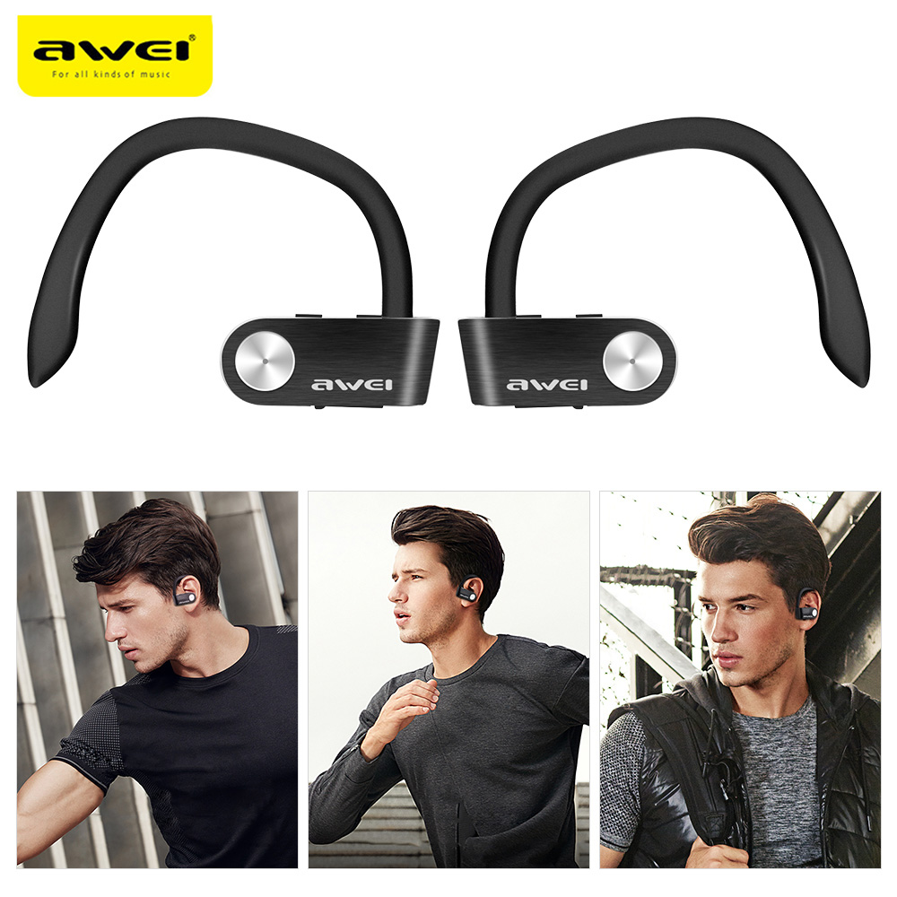 Awei T2 Sweat-proof TWS True Wireless Earbuds Bluetooth 4.2 Sports Headphones On-ear Control IPX4 Waterproof Earphone Micro USB awei a960bl bluetooth 4 0 in ear wireless sports earphone