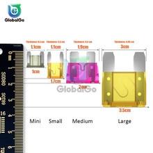 цена на 10pcs/Lot MINI SMALL MEDIUM Size Car Fuse 5A 7.5A 10A 15A 20A 25A 30A 40A Amp Mini ATM Blade Fuse