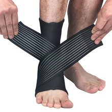 Wanayou 1Pair Elastic Sport Support Brace Bandage Adujustable Ankle Guard Band Prevent Sprain Football Match Ankle Protection