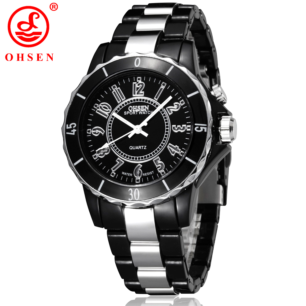 New Fashion OHSEN Men Women Unisex Waterproof Sport Watch 7 Multi-color LED Light Clock Relogio Feminino Quartz Dress Wristwatch new fashion unisex women wristwatch quartz watch sports casual silicone reloj gifts relogio feminino clock digital watch orange
