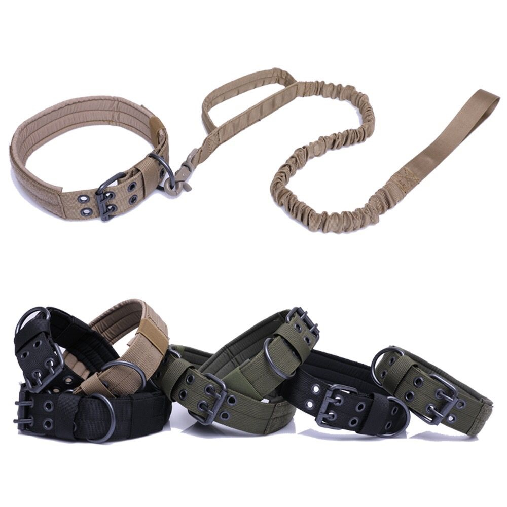 Adjustable Durable Outdoor Walking Military Army Trainning Nylon Dog Hunting Collar 5 Level For German Shepherd Dog Large Dog