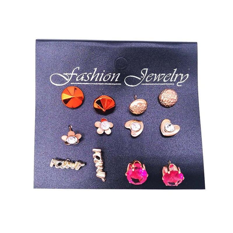 2018 Trendy Earrings Set Lovely Type Cheap Ronda Vintage Gold Stud - Bisutería - foto 4