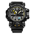 Outdoor Sports Men Dual Movement LED Digital Watch Waterproof Silicone Casual Military Quartz Wrist Watch New Arrivals