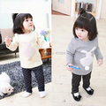 Autumn new cute baby boys girls shirts kids thick cartoon long-sleeved T shirt plush rabbit Sweatshirts children cute soft coat